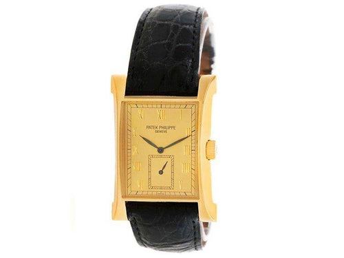 Men's Patek Philippe Pagoda 5500J 18K Yellow Gold 26.5mm Mens Watch PRE-OWNED - Global Timez
