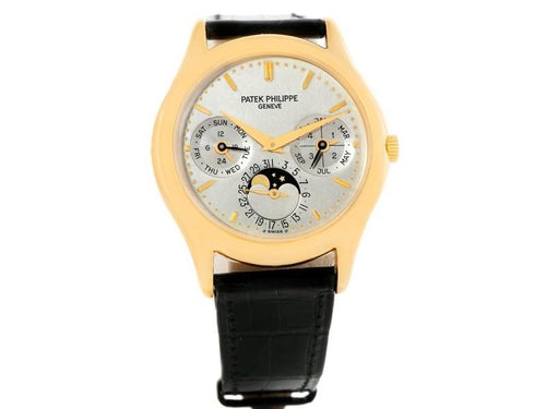 Men's Patek Philippe Complications Perpetual Calendar 3940 18K Yellow Gold 36mm Mens Watch PRE-OWNED - Global Timez