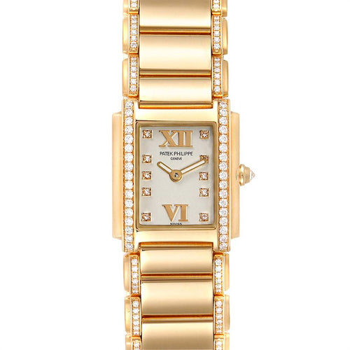 Patek Philippe Twenty-4 Small 18K Rose Gold Diamond Ladies Watch 4908 PRE-OWNED