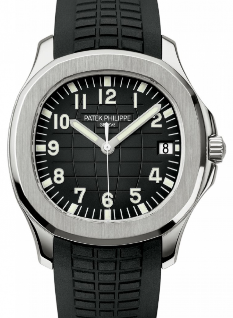 Men's Patek Philippe Aquanaut Black Dial Stainless Steel Bezel Rubber Bracelet 40 mm 5167A-001 - BRAND NEW