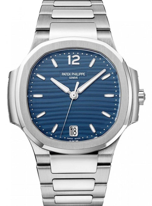 Patek Philippe Nautilus Men's Blue Opaline Index Stainless Steel 35.2mm 7118/1A-001 - BRAND NEW - Global Timez