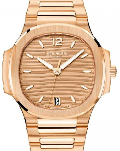 Patek Philippe Nautilus Men's Golden Brown Opaline Index Rose Gold 35.2mm 7118/1R-001 - BRAND NEW - Global Timez