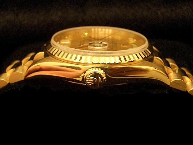 Men's Rolex 18K Gold Day-Date President Champagne Diamond 18238 PRE-OWNED