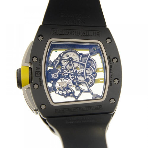 Men's Richard Mille Yohan Blake Manual RM61-01 Ceramic Rubber Transparent Skull Automatic BRAND NEW - Global Timez