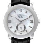 Rolex Cellini Cellinium Platinum Mother of Pearl Men's Watch 5240 PRE-OWNED