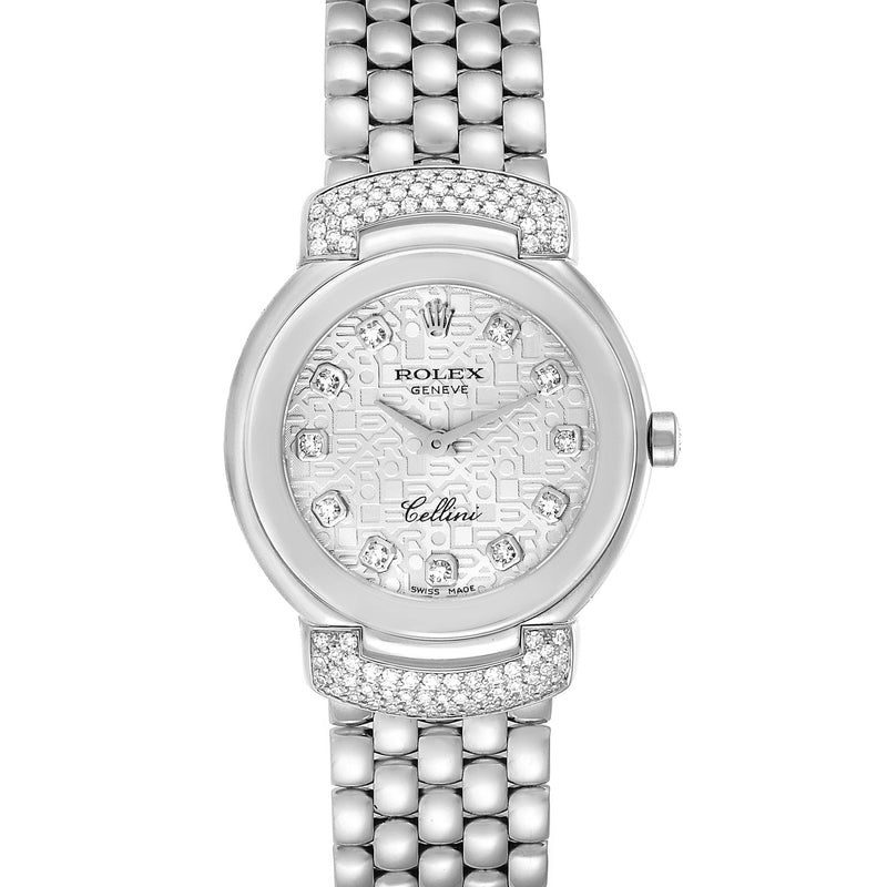 Rolex Cellini Cellissima White Gold Diamond Ladies Watch 6672 Box Papers PRE-OWNED