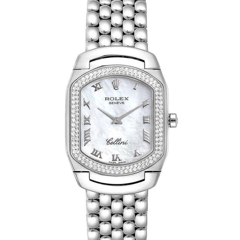Rolex Cellini Cellissima White Gold Diamond Ladies Watch 6691 Box Card PRE-OWNED