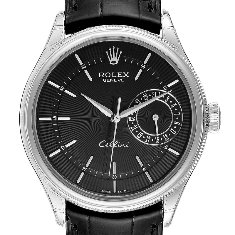 Rolex Cellini Date 18K White Gold Automatic Men's Watch 50515 Unworn PRE-OWNED