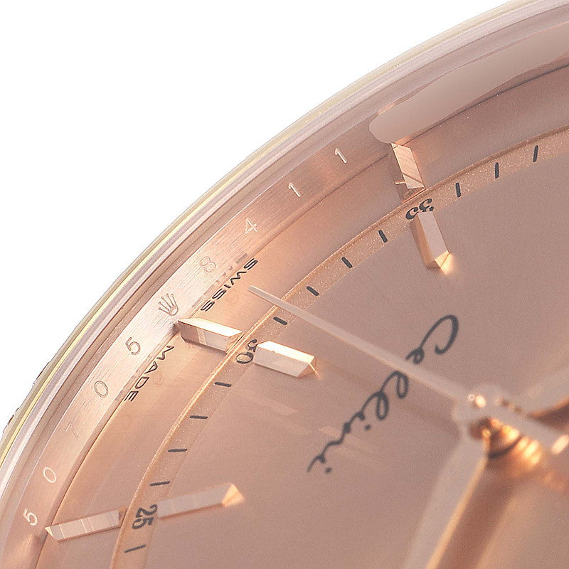 Men's Rolex Cellini Everose Gold Automatic Diamond Men's Watch 50705 Unworn PRE-OWNED