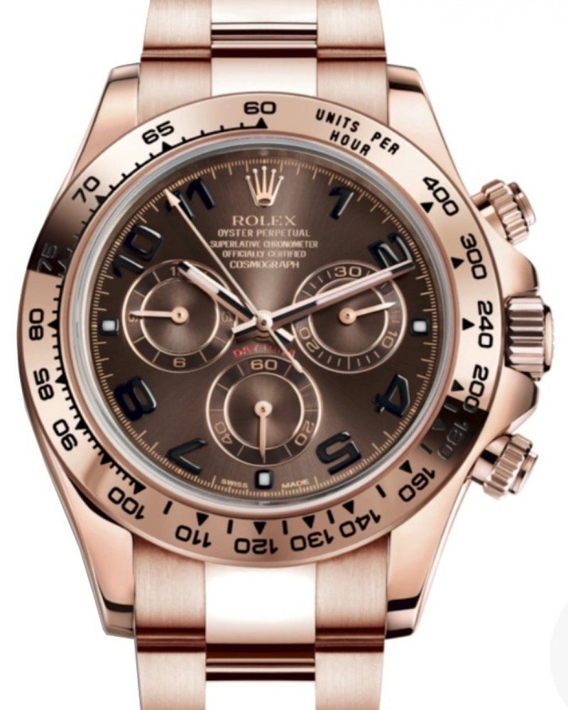 Men's Rolex Daytona 116505 Chocolate Rose Gold Chronograph BRAND NEW