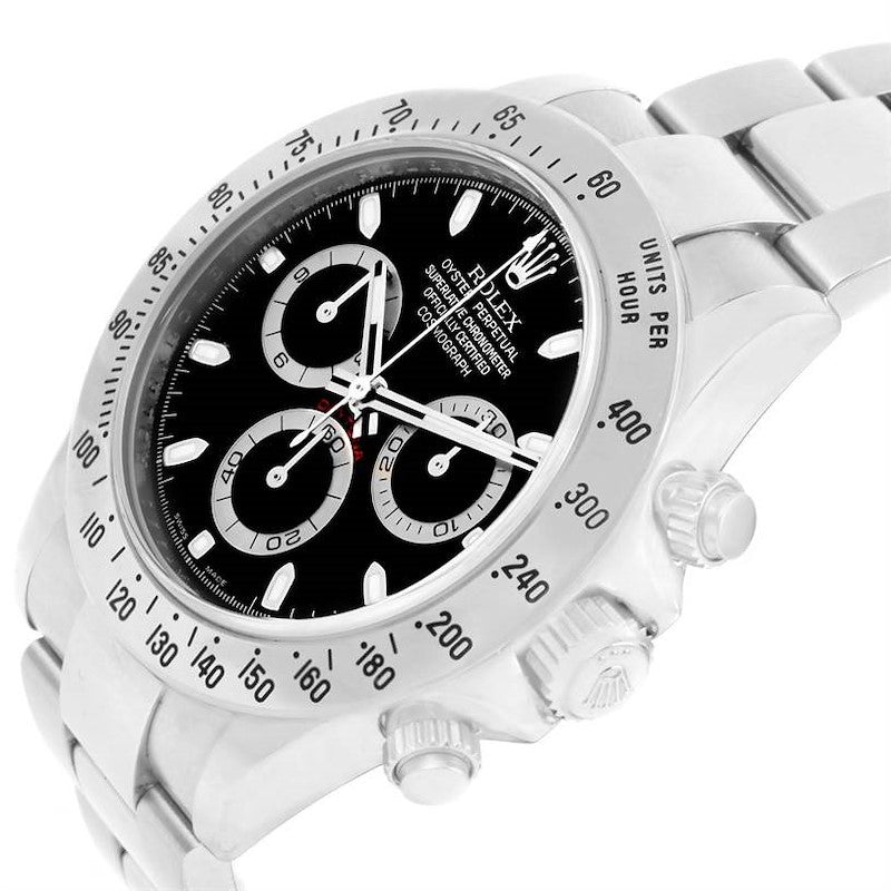 Rolex Cosmograph Daytona Stainless Steel Black Dial Men's Watch 116520 PRE-OWNED