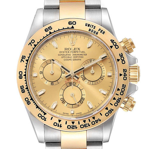 Men's Rolex Cosmograph Daytona Steel Yellow Gold Men's Watch 116503 Box Card PRE-OWNED - Global Timez