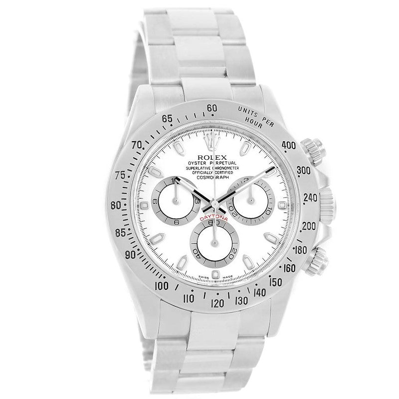 Men's Rolex Cosmograph Daytona White Dial Chronograph Steel Watch 116520 PRE-OWNED