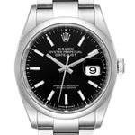 Men's Rolex Datejust 36 Black Dial Domed Bezel Steel Men's Watch 126200 PRE-OWNED