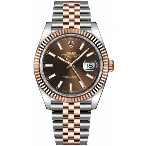 Men's Rolex Datejust 41 126331  Rose Gold 41mm Automatic BRAND NEW - Global Timez