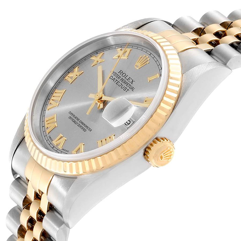Rolex Datejust Stainless Steel Yellow Gold Men's Watch 16233 Box PRE-OWNED