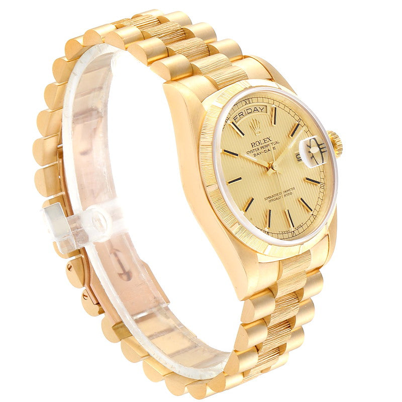 Rolex Day-Date President 36 Yellow Gold Tapestry Dial Men's Watch 18248 PRE-OWNED