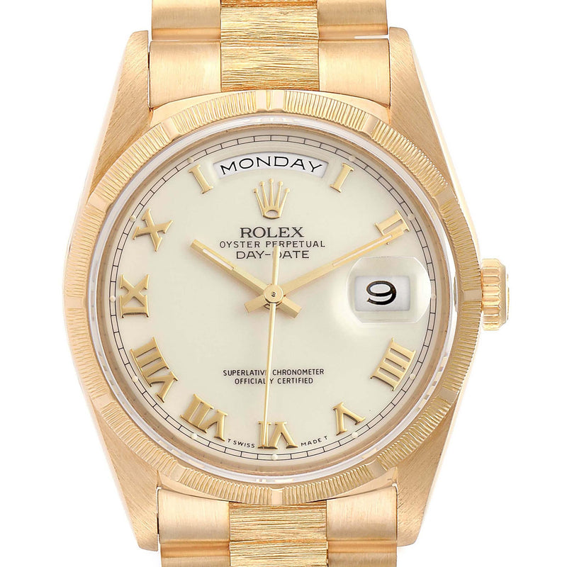 Rolex Day-Date President Yellow Gold Ivory Dial Men's Watch 18248 PRE-OWNED