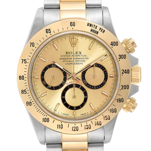 Men's Rolex Daytona Steel Yellow Gold Inverted 6 Chronograph Men's Watch 16523 PRE-OWNED - Global Timez