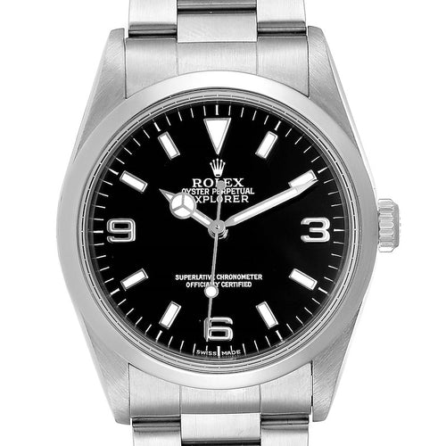 Rolex Explorer I 36mm Black Dial Automatic Steel Men's Watch 14270 PRE-OWNED