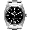 Men's Rolex Explorer I Black Dial Stainless Steel Men's Watch 114270 Box PRE-OWNED