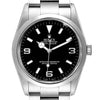 Men's Rolex Explorer I Black Dial Stainless Steel Men's Watch 114270 Box Papers PRE-OWNED
