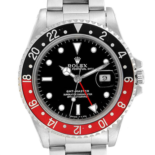 Rolex GMT Master Black Red Coke Bezel Men's Watch 16700 PRE-OWNED