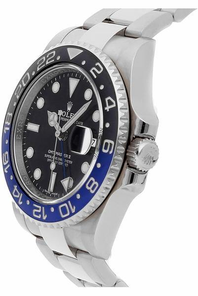 Men's Rolex GMT-Master II Batman Stainless Steel Watch 116710BLNR PRE-OWNED - Global Timez