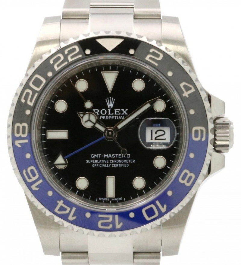 Men's Rolex GMT-Master II 116710BLNR Blue Black Ceramic Batman 40mm Stainless Steel - PRE-OWNED