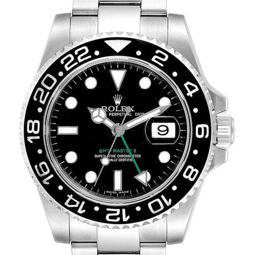 Rolex GMT Master II 40mm Black Dial Green Hand Men's Watch 116710 PRE-OWNED