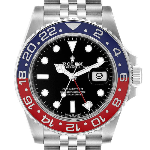 Men's Rolex GMT Master II Pepsi Bezel Jubilee Steel Watch 126710 Unworn PRE-OWNED