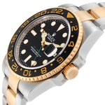 Men's Rolex GMT Master II Yellow Gold Steel Men's Watch 116713 Box Papers PRE-OWNED
