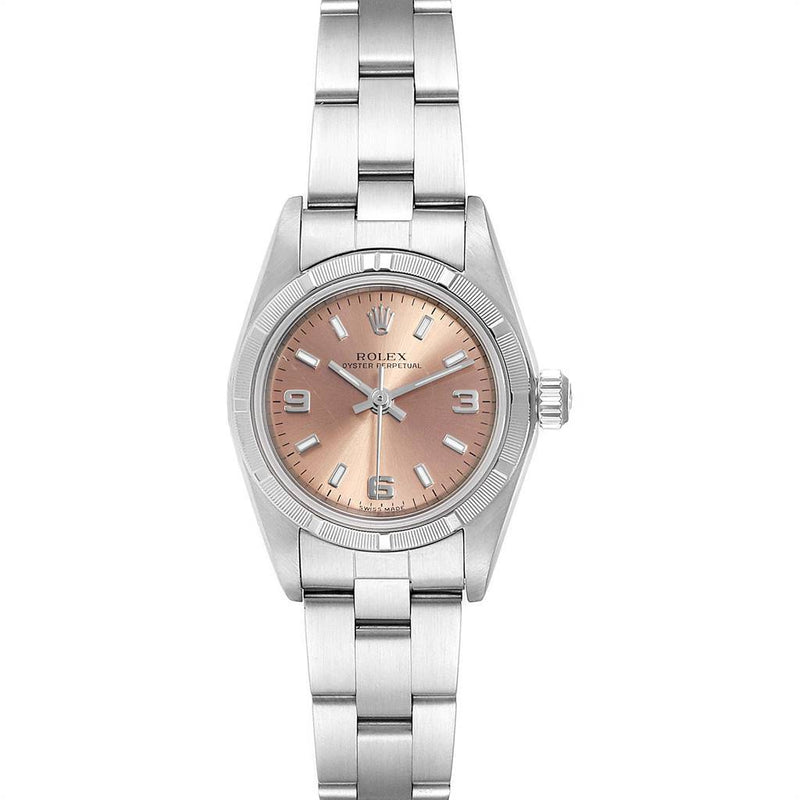 Rolex Oyster Perpetual 24mm Salmon Dial Steel Ladies Watch 76030 PRE-OWNED