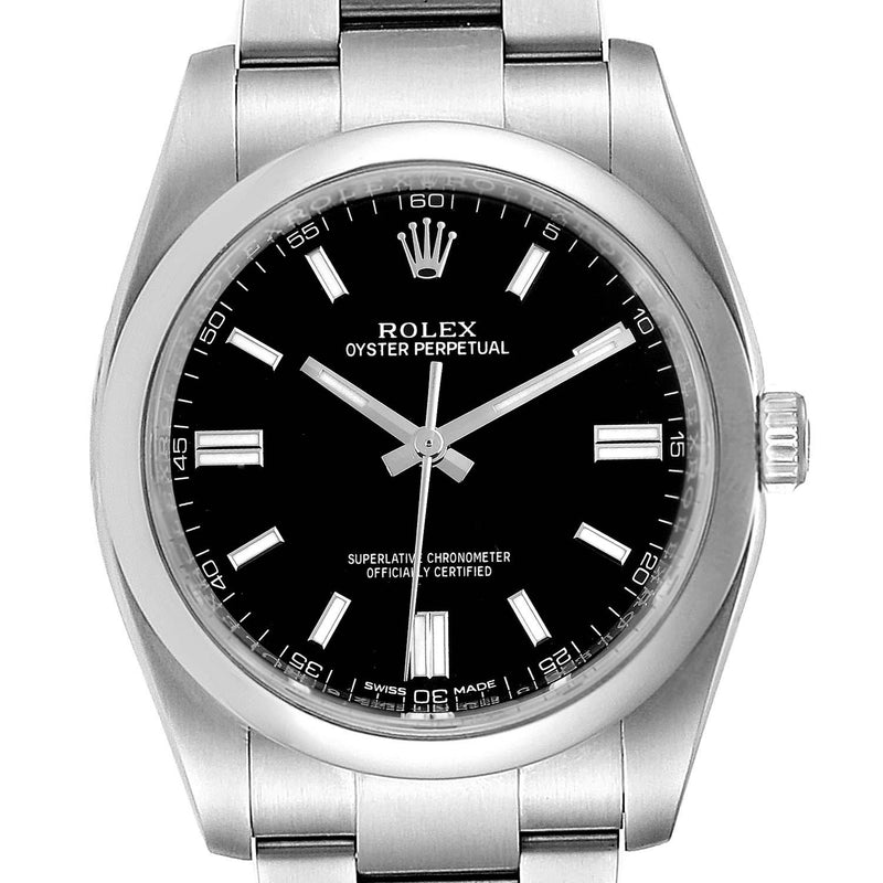 Men's Rolex Oyster Perpetual 36 Rhodium Dial Steel Men's Watch 116000 Box Card PRE-OWNED