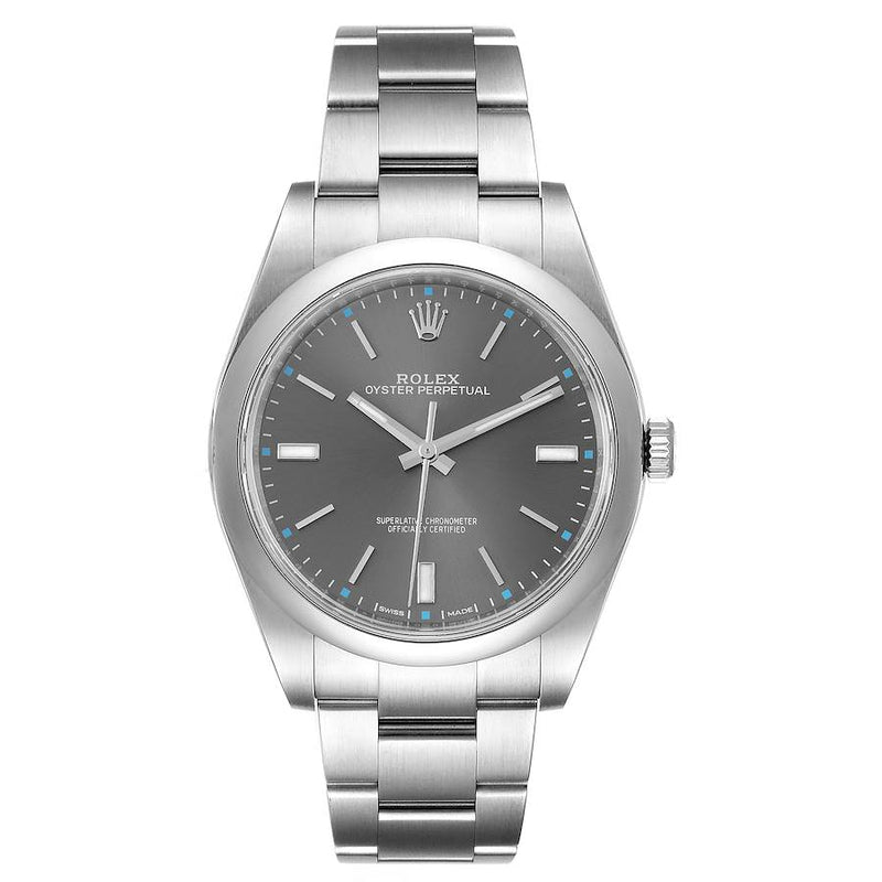 Men's Rolex Oyster Perpetual 39 Rhodium Dial Steel Men's Watch 114300 PRE-OWNED