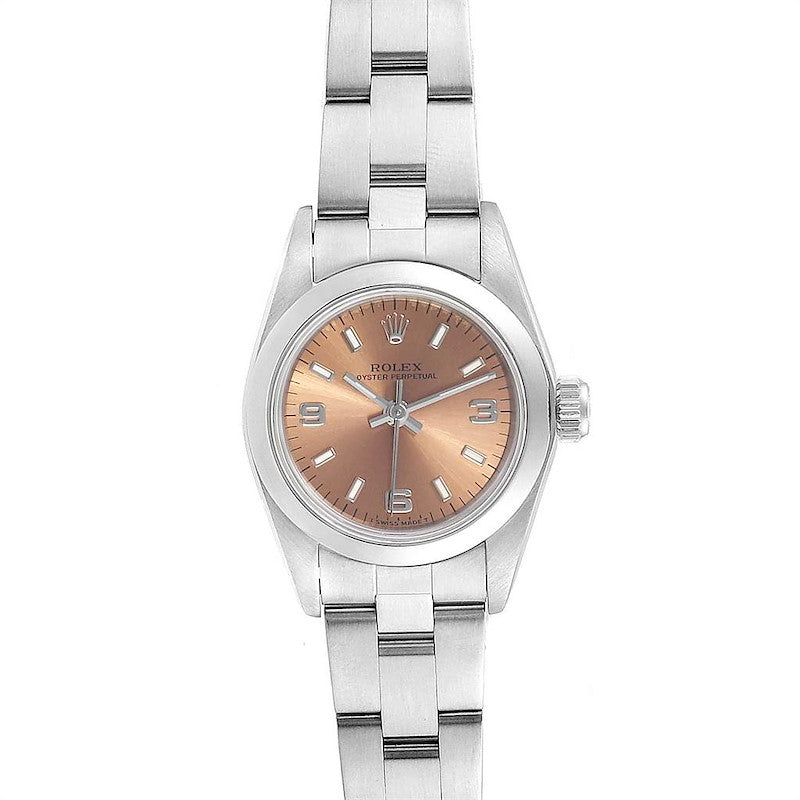 Rolex Oyster Perpetual Nondate Steel Ladies Watch 67180 Box Papers PRE-OWNED
