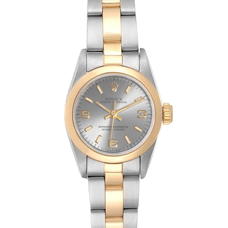 Rolex Oyster Perpetual NonDate Steel Yellow Gold Ladies Watch 67183 PRE-OWNED