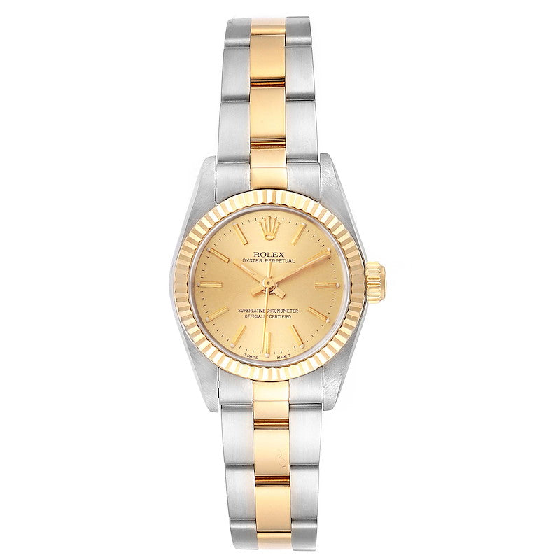 Rolex Oyster Perpetual NonDate Steel Yellow Gold Ladies Watch 67193 PRE-OWNED