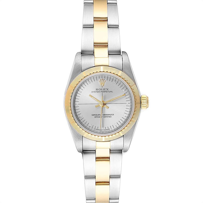 Rolex Oyster Perpetual Steel Yellow Gold Ladies Watch 76243 Box Papers PRE-OWNED