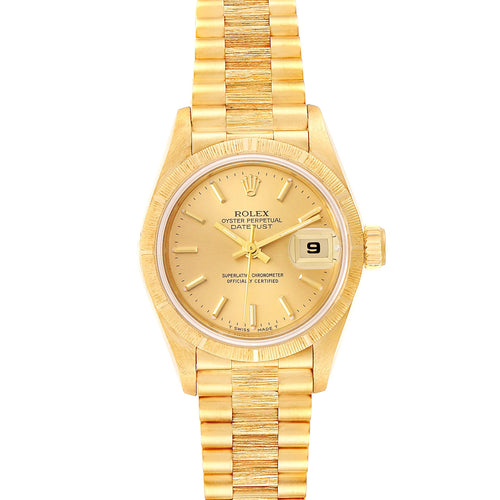 Rolex President Datejust 18K Yellow Gold Ladies Watch 69278 PRE-OWNED - Global Timez