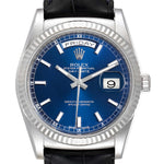 Men's Rolex President Day-Date White Gold Blue Dial Men's Watch 118139 PRE-OWNED