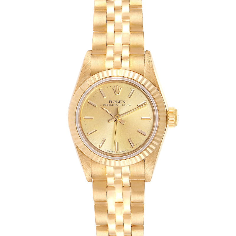Rolex President No-Date 18K Yellow Gold Ladies Watch 67198 PRE-OWNED