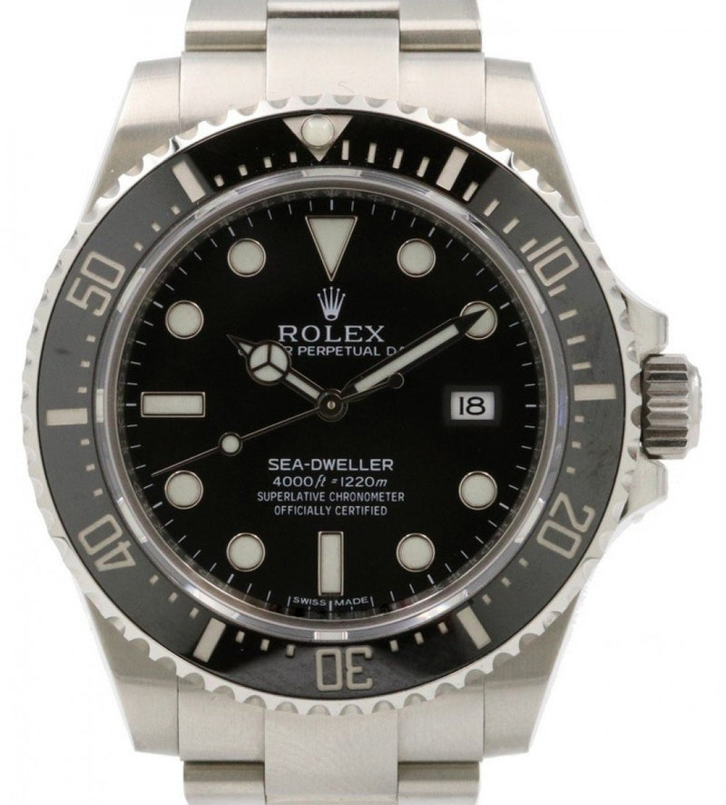 Men's Rolex Sea-Dweller 4000 116600 Men's 40mm Black Stainless Steel Oyster Diver - PRE-OWNED