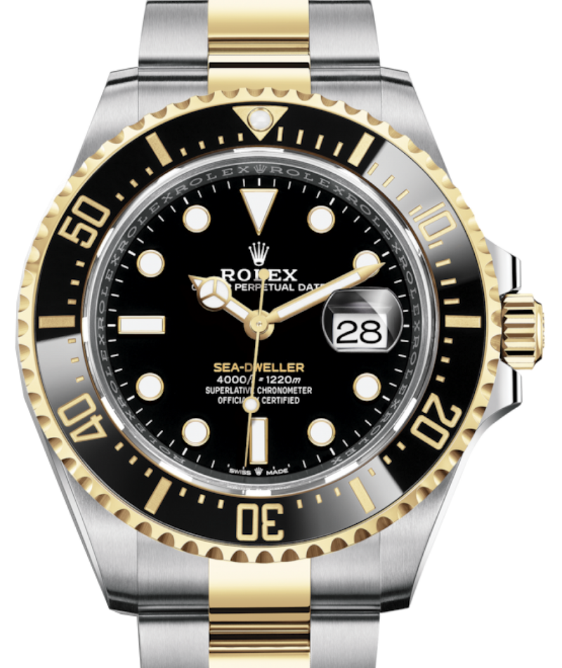 Men's Rolex Sea-Dweller 43mm Case Yellow Gold/Steel Black Luminous Dial & Ceramic Bezel Oyster Bracelet 126603 - BRAND NEW