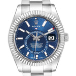 Rolex Sky Dweller Blue Dial Steel White Gold Men's Watch 326934 PRE-OWNED