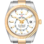 Rolex Sky Dweller Yellow Gold Steel White Dial Men's Watch 326933 PRE-OWNED