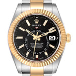 Rolex Sky Dweller Yellow Gold Steel Black Dial Men's Watch 326933 Unworn PRE-OWNED