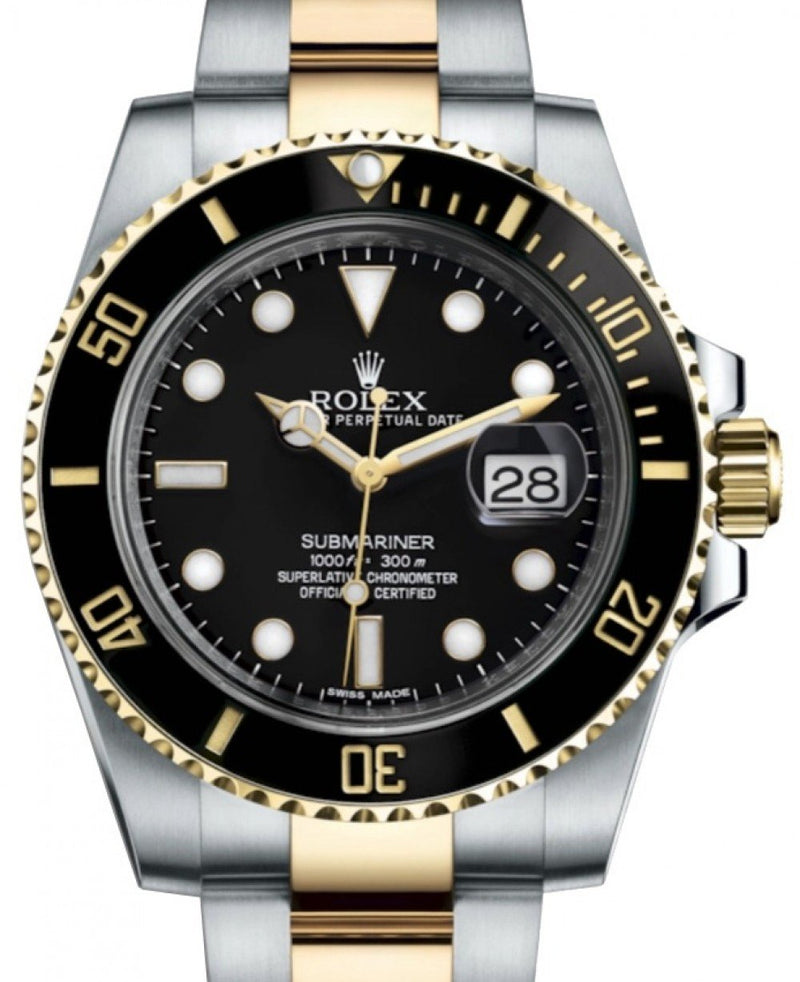 Rolex Submariner Date Yellow Gold/Steel Black Dial & Ceramic Bezel Oyster Bracelet 116613LN - BRAND NEW