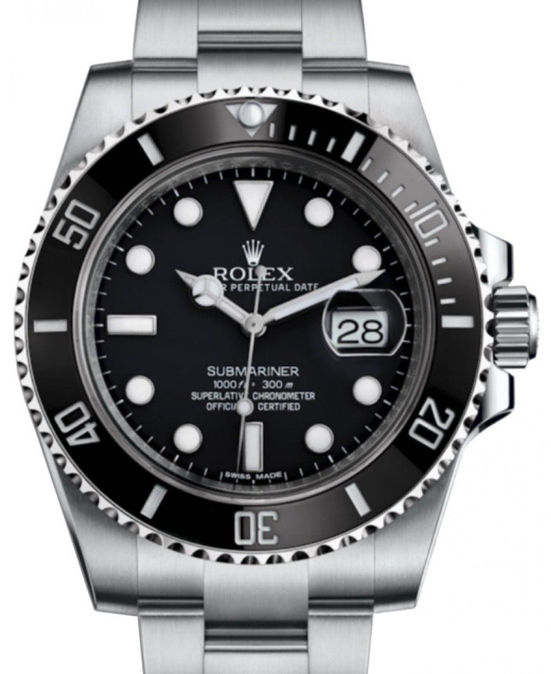 Men's Rolex Submariner Date Stainless Steel Black Dial & Ceramic Bezel Oyster Bracelet 116610LN - BRAND NEW