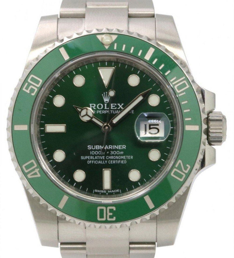 "Rolex Submariner Date ""Hulk"" Stainless Steel Green Dial & Ceramic Bezel Oyster Bracelet 116610LV - PRE-OWNED"
